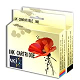 UCI 1Set Remanufactured Ink Cartridge For HP Deskjet Printer Replace HP338 HP343 ( Non-Original )