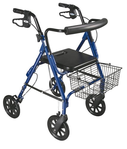 Drive Medical D-Lite Rollator, Blue