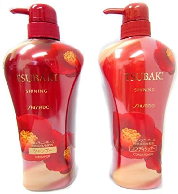 Shiseido Tsubaki Shining Shampoo and Conditioner, 370.2 Fluid Ounce