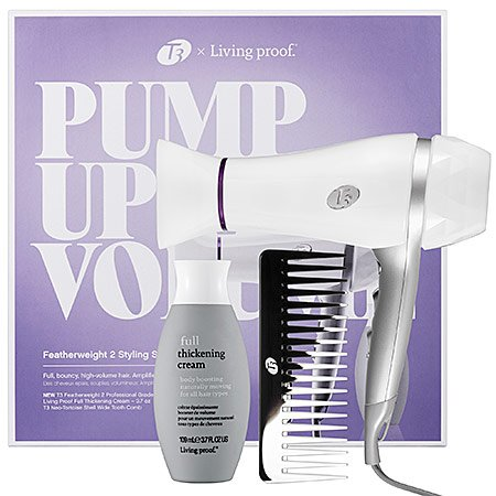 T3 Bespoke Labs X Living Proof Pump Up The Volume Featherweight 2 Hair Dryer Styling Set 3 Piece Set