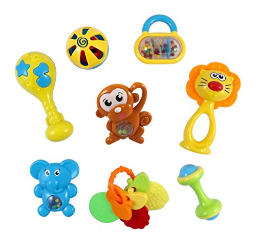 Animal-Fun-8-Piece-Baby-Rattle-and-Teether-Toy-Play-Set