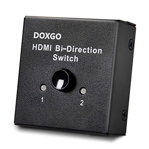 Doxgo HDMI Switch Hub Box Ultra HD 4K, 2x1 or 1x2 Bi-Directional Switcher with HDCP Passthrough, 1080P HDTV 3D (Ps3 Clone Console compare prices)
