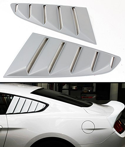 For 2015-2016 Ford Mustang GT S550 Side Vent Window Quarter Scoop Louver Covers Pair (Gt Side Scoops compare prices)