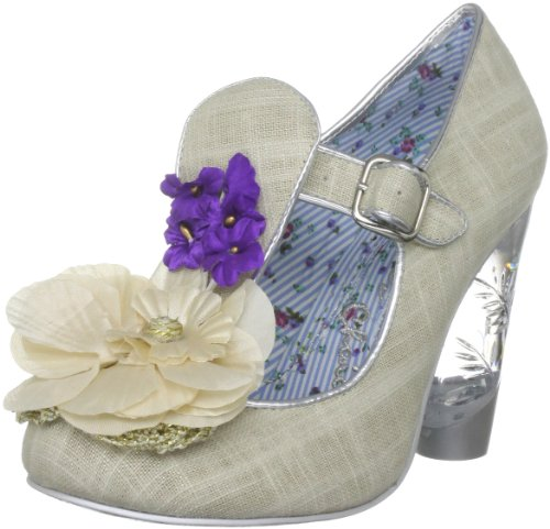 Irregular Choice Women's Can't Touch This Silver Mary Janes 3801-12H 4 UK, 37 EU