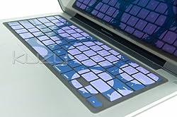Kuzy - Circles Purple Keyboard Silicone Cover Skin for Macbook / Macbook Pro 13 15 17 Aluminum Unibody