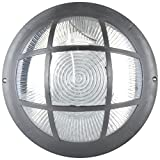 Glow Fixtures Metal & Glass Gallery Balcony Light (Black & White, 12 Watts)
