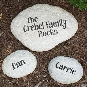 Large Engraved Family We Rock Stone – Gift for Mom