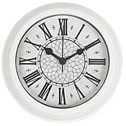 HITO™ Silent Non-ticking Wall Desk Clock w/ Alarm AND Table Stand- 6 inches (NO5)