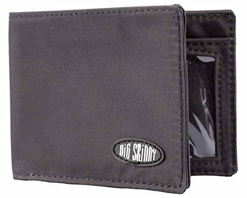 Big Skinny Men's Compact Sports Bi-Fold Slim Wallet, Black