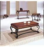 Acme 07743 3-Piece Carmel Coffee/End Table Set, Cherry Finish