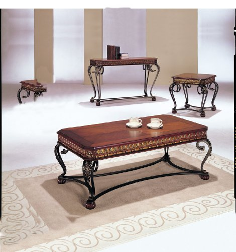 Buy Low Price Acme 07743 3-Piece Carmel Coffee/End Table