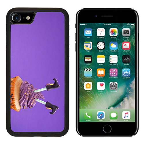 [Luxlady Premium Apple iPhone 7 iPhone7 Aluminum Backplate Bumper Snap Case IMAGE ID: 22167569 Halloween cupcake with witch] (Easy Decorated Halloween Cupcakes)
