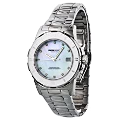 Momo Design Pilot Mother of Pearl Diamond Dial Stainless Steel Ladies Watch 093-C-MB-02WT