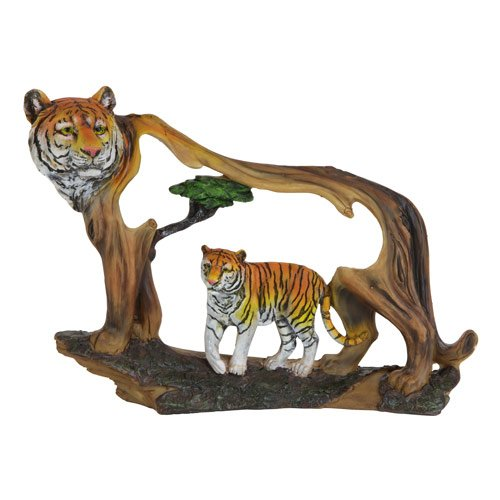 Bengal Tiger Cutaway Scene Figure, Sculpture Decoration, 9-inch (Figure Sculpture compare prices)