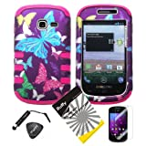 4 items Combo: ITUFFY LCD Screen Protector Film + Mini Stylus Pen + Case Opener + Purple Pink Green Yellow Blue... by Snaponcase