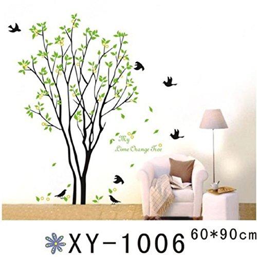 [해외]3D 벽 스티커, Ikevan 3D 벽 스티커 녹색 분기 새 PVC 전사 술 가정 침실 텔레비젼 벽 스티커 Romance 가정 훈장 60x90c/3D Wall Stickers, Ikevan 3D Wall Sticker