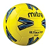 Mitre Ultimatch Fluo18p Football - Yellow Size 3