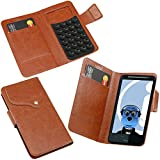 ITALKonline HTC Desire HD Brown Super Slim PU Leather Executive Multi-Function Wallet Case Cover Organiser Flip with Credit / Business Card Holder - Suction Pad Design