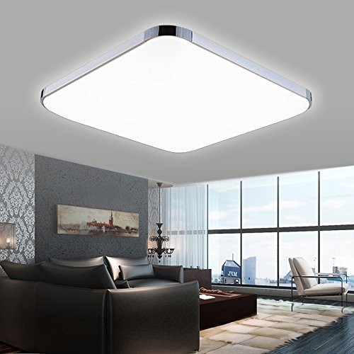 hengda 18w led deckenleuchte alu matt panel badleuchte kaltweiss markantes design ip44. Black Bedroom Furniture Sets. Home Design Ideas
