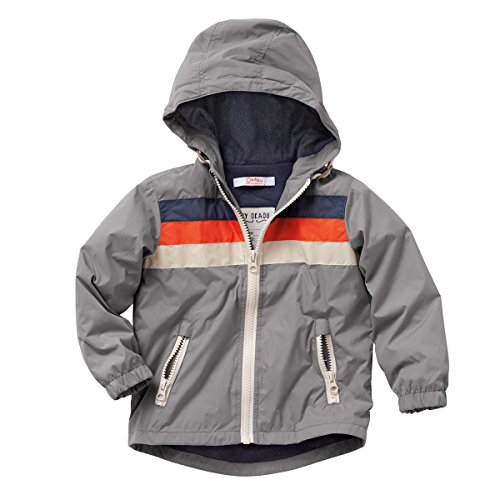 La Redoute Boys Baby'S Lined Hooded Windcheater Grey Size front-177725
