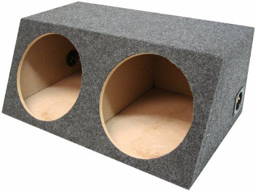 "Asc Dual 15"" Subwoofer Sealed Universal Fit Angled Hatch Sub Box Speaker Enclosure"