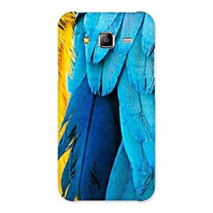 Stylish Blue Feathur Back Case Cover for Samsung Galaxy J5