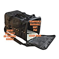 PetsNall Soft-Sided Pet Carrier Bag Black, Airline Approved