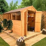BillyOh 10' x 6' Lincoln Tongue And Groove Double Door Apex Wooden Garden Shed