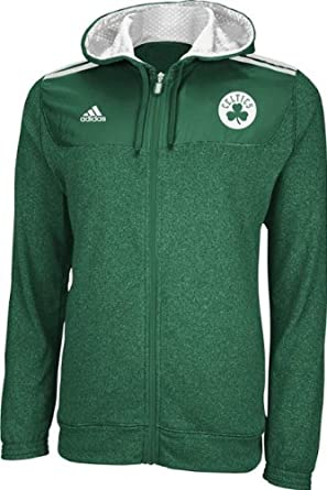 NBA adidas Boston Celtics On-Court Pregame Full Zip Hoodie - Kelly Green by adidas