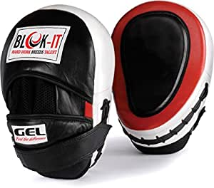 GEL Focus Mitts : By BLOK-IT --- [Focus Pads, Punch Mitts, Boxing Pads, Focus Gloves, Hook & Jab Pads] --- Suitable For Boxing, MMA, Thai Boxing, Kickboxing, Boxercise, Karate, Taekwondo, Krav Maga, Wing Chun & Other Martial Arts