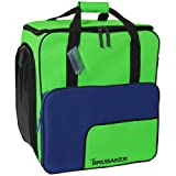 HENRY BRUBAKER`s Practical Ski Boot Winter Sports Bag Backpack SUPER FUNCTION 2.0 Holds Complete Set Of Ski And Snowboard Equipment inclusive Helmet! The new Winteredition Blue / Green