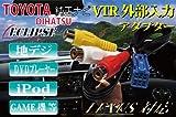 《VI-02》◆2011年モデル対応!! VTR アダプター ビデオ 端子 ハーネス (RCA メス端子:1.5m) トヨタ/ダイハツ デーラーOPナビ NHZA-W61G NHZN-W61G NHZN-X61G NSCT-W61 NSZT-W61G / NSCT-W61D(N151) など外部入力に ビデオハーネス ビデオ コネクター VTR コネクタ ビデオ ケーブル VTR ケーブル