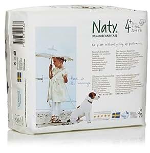 NATY by Nature Babycare Ökowindeln - Größe 4+ (9-20 Kg), 4er Pack (4 x 25 Stück)