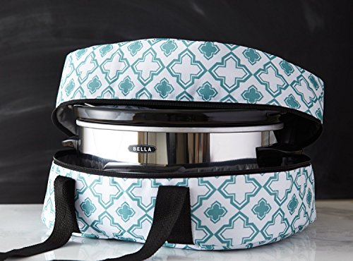 iEnjoyware Slow Cooker Insulated Tote - 15 X 11 X 8 Inches - Teal (Slow Cookers With Carriers compare prices)
