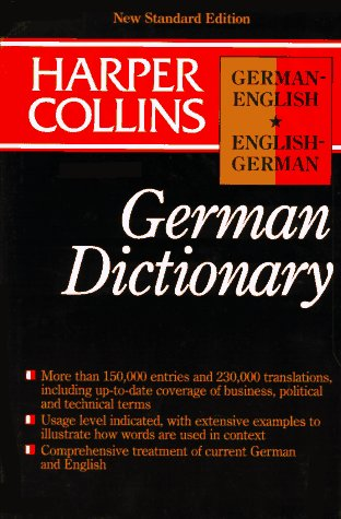 Collins German English/English German Dictionary/Indexed, Peter Terrell