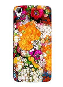 Omnam Colorful Round Pattern Printed Designer Back Cover Case For HTC Desire 828