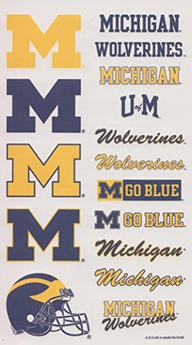 Michigan Wolverines NCAA Logos Temporary Tattoos - 1