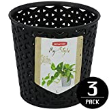 Curver black My Style Storage Basket Round Polypropylene, 14,4x14,4x14cm, 3 Piece Set, EF505731