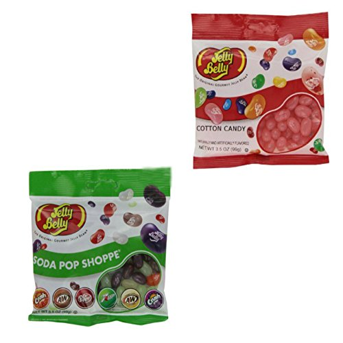 Jelly Belly Soda Pop Shoppe and Cotton Candy Jelly Beans - Variety 2 Pack - Net Weight 7 oz - Retail Packaging - Fresh Product (Pepsi Jelly Beans compare prices)