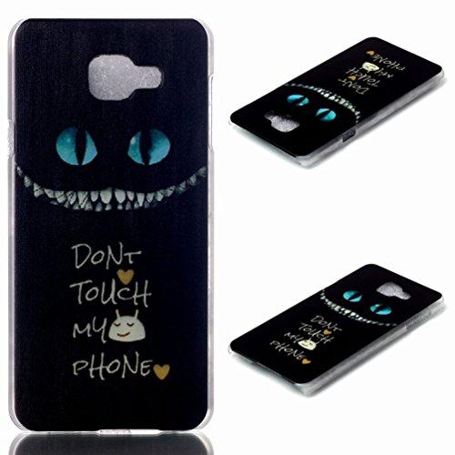Samsung Galaxy A7 (2016 Version) Hülle Schutzhülle Schale Tasche, Ougger Ultra Slim Fit Klar Transparent Hart Silikon Leicht PC Gummi Bumper Schutz Shell Speziell Galaxy A7 (2016)/ A710F A710M A710FD A7100 A710Y Design 13
