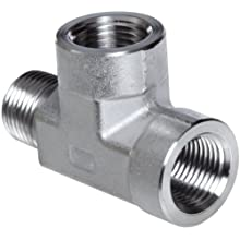Parker Stainless Steel 316 Pipe Fitting, Street Tee, NPT Female X NPT Male X NPT Female