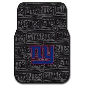 New York Giants Set of Rubber Floor Mats by Northwest Enterprises