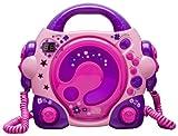BigBen CD-Player CD47 mit 2 Mikrofonen Pink