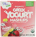 Plum Kids Organic Greek Yogurt Mashups, Strawberry Lemonade, 4-Count (Pack of 6)