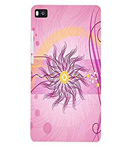 ColourCraft Pattern Design Back Case Cover for HUAWEI P8