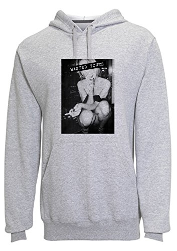 sexy-girl-wasted-youth-old-photo-navy-gray-hoodie-custom-made-hooded-sweatshirt-m