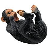 Drinking Monkey Wine Bottle Holder Statue for African Jungle Safari and Tropical or Beach Bar Decor Sculptures As Decorative Tabletop Wine Display Racks & Stands and Whimsical Wildlife Zoo Animal Gifts