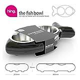 Katzennapf FISH - Futternapf Doppel-Napf Futterstation - 500 ml Futtermenge - Maße 40 x 20,5 x 7 cm - Farbe: Orange -