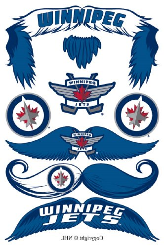 StacheTATS Winnipeg Jets Temporary Mustache Tattoos