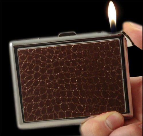 Designer 2 In 1 Cigarette Case With Built In Lighter (Black) (For King Size) #66